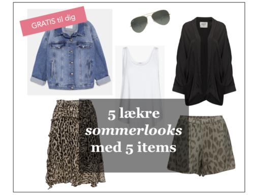 5 lækre sommerlooks med 5 stykker tøj